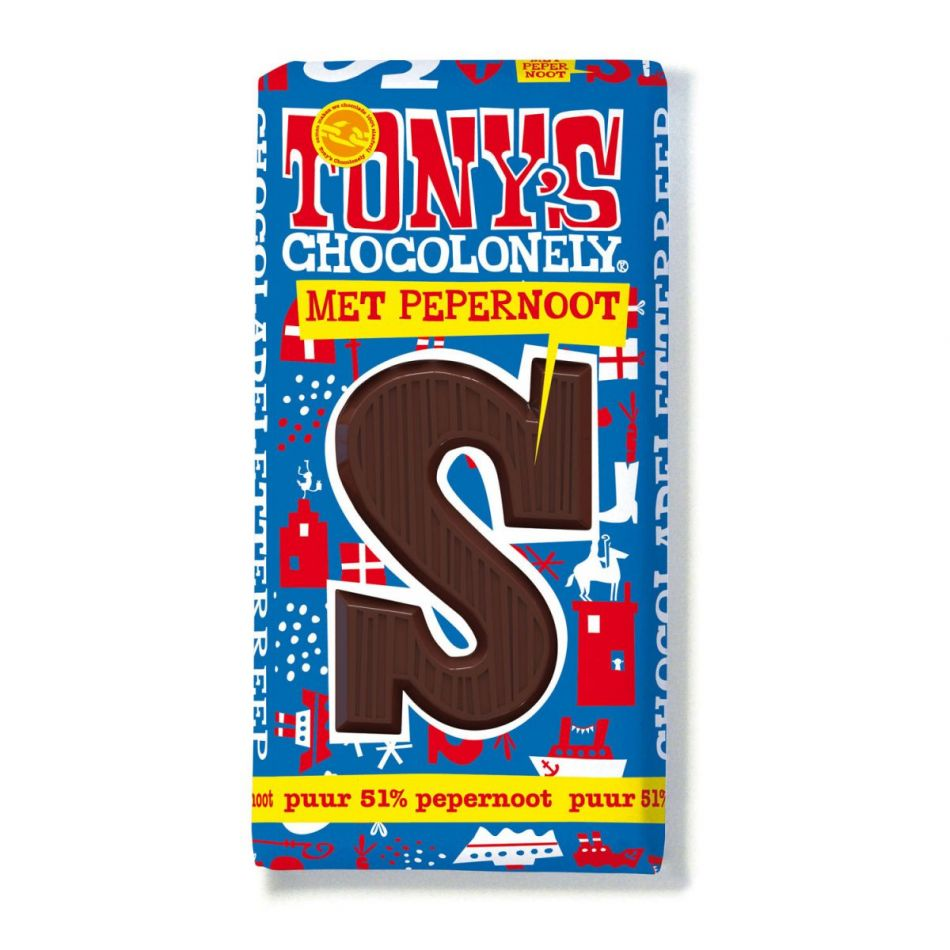 Tony's Chocolonely Letterreep Puur pepernoot