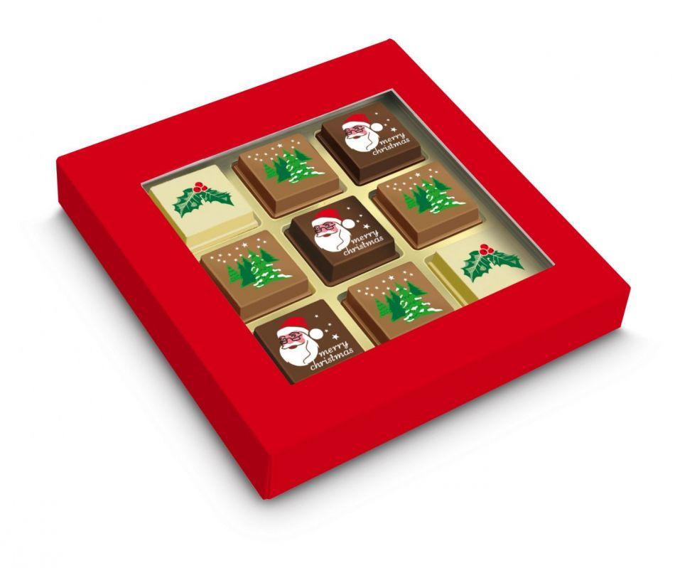 Kerstchocolade bonbons 9 stuks