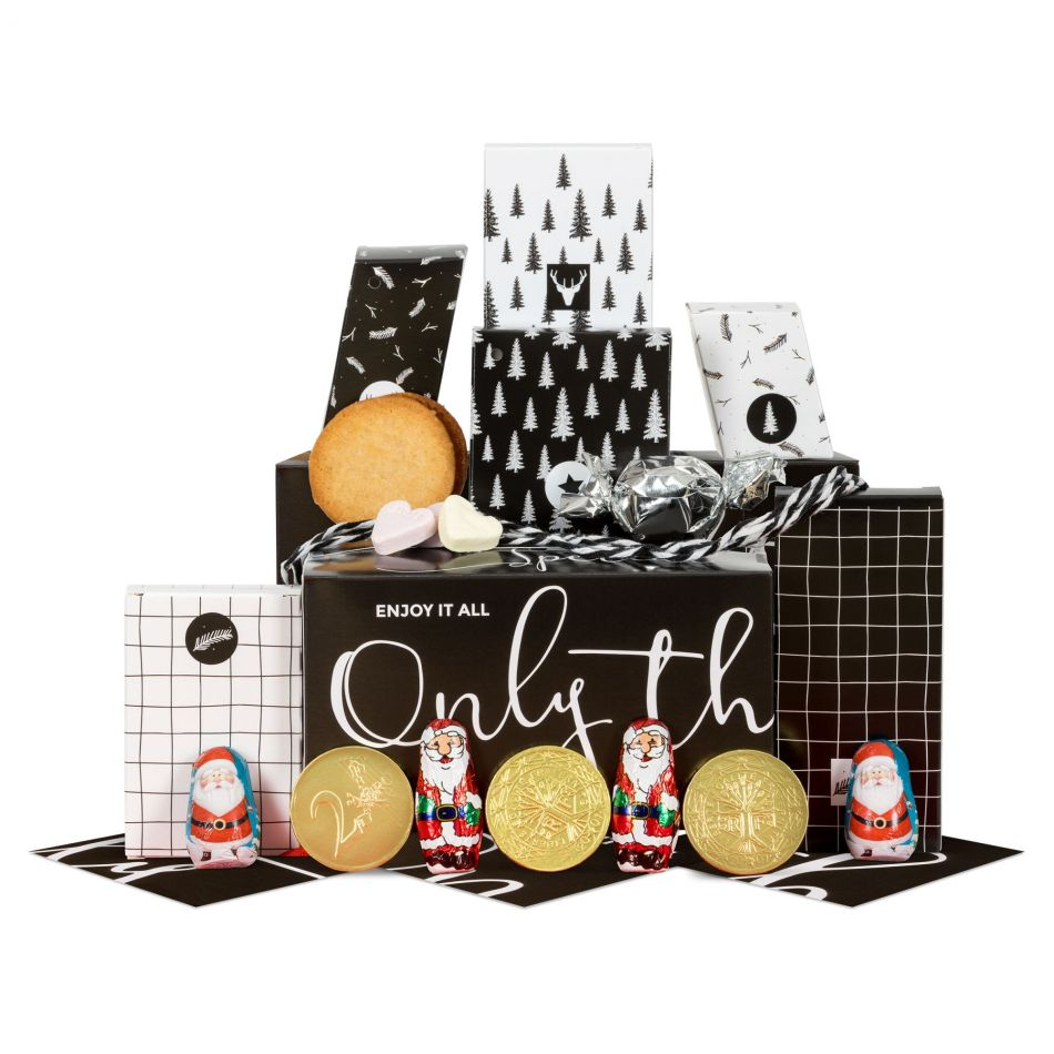 Mini Kerstpakket Black & White